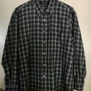 e86ce26f57c Yves Saint Laurent Shirts - Yves Saint Laurent Shadow Plaid Flannel sz Large
